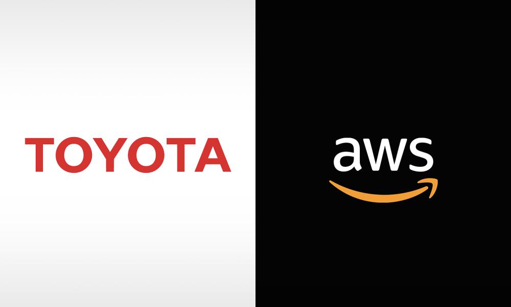 Toyota and Amazon AWS logos