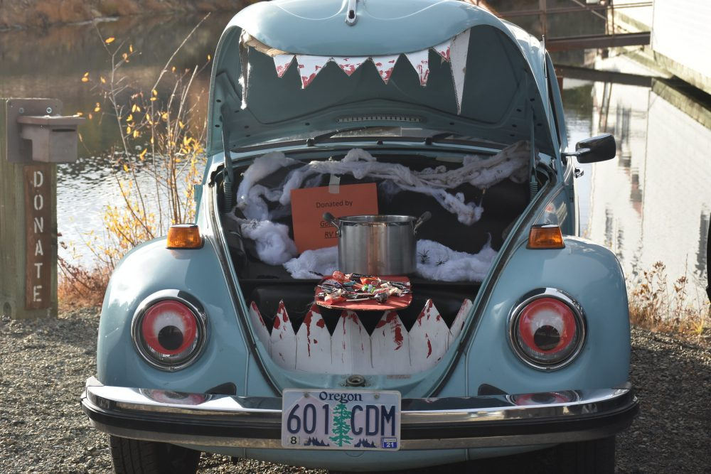 Trunk or Treat Car display Volkswagen Beetle Bug Halloween display