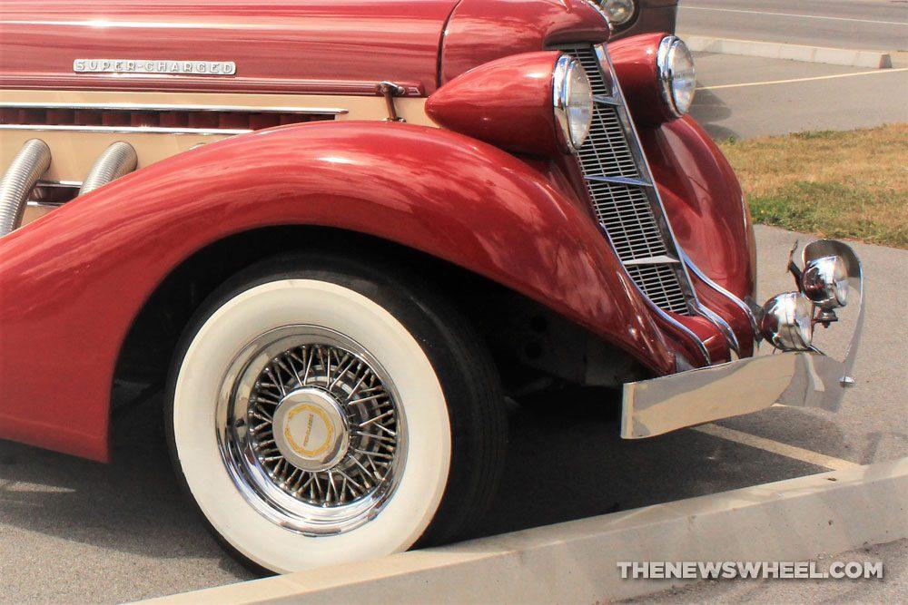 classic car whitewall tire wheel vintage historic automobile