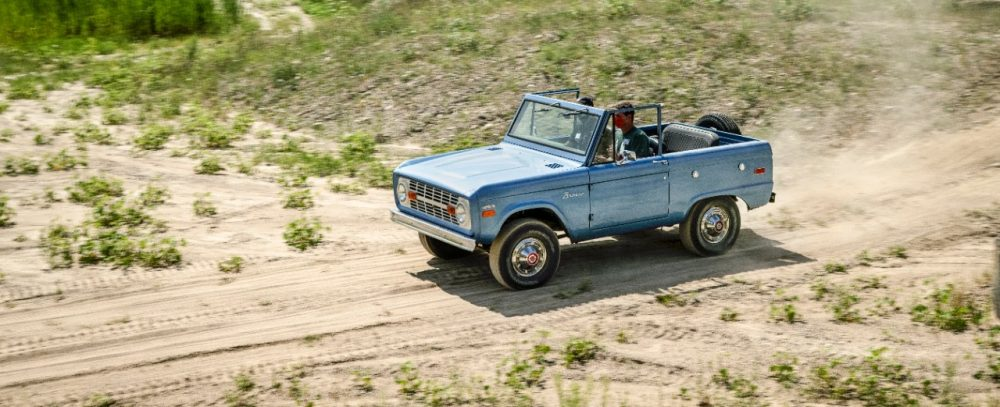 first-gen Ford Bronco in action