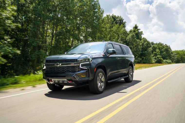 2021 Chevrolet Suburban, also not in AC Valhalla.