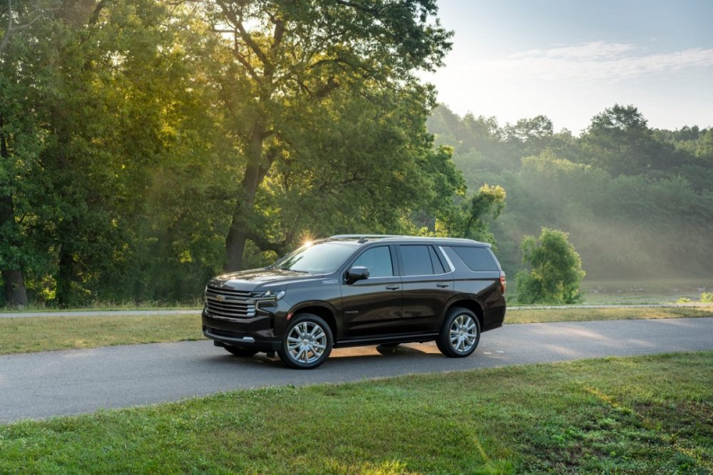 2021 Chevrolet Tahoe driving on a country road