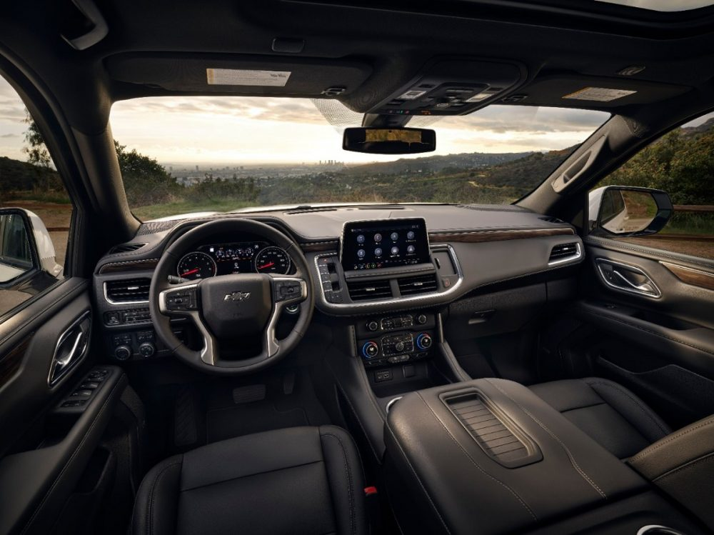 The front row of the 2021 Chevrolet Tahoe