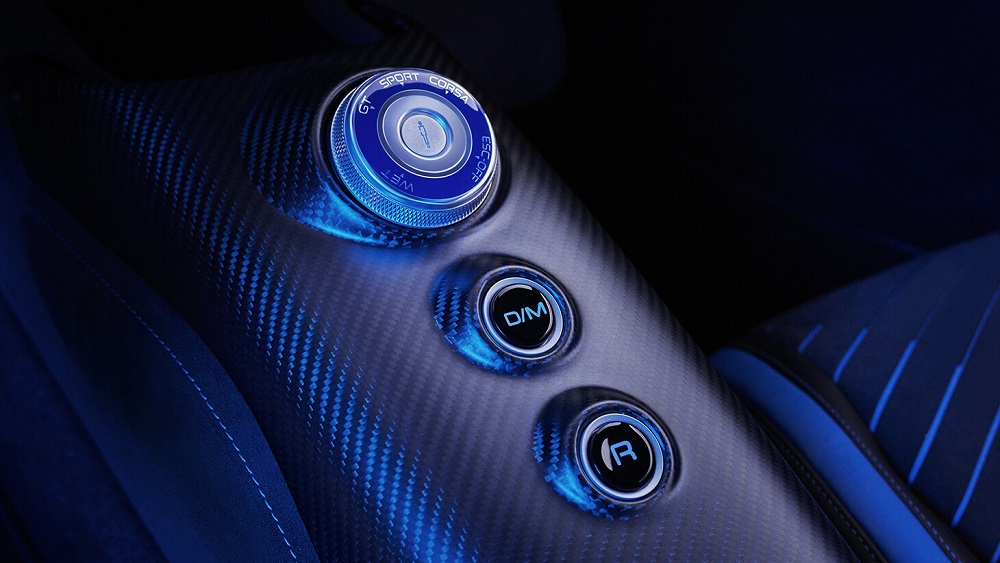 2021 Maserati MC20 drive mode selector