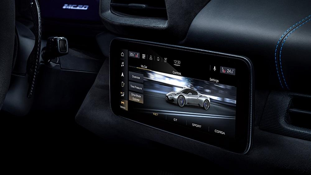 2021 Maserati MC20 infotainment display