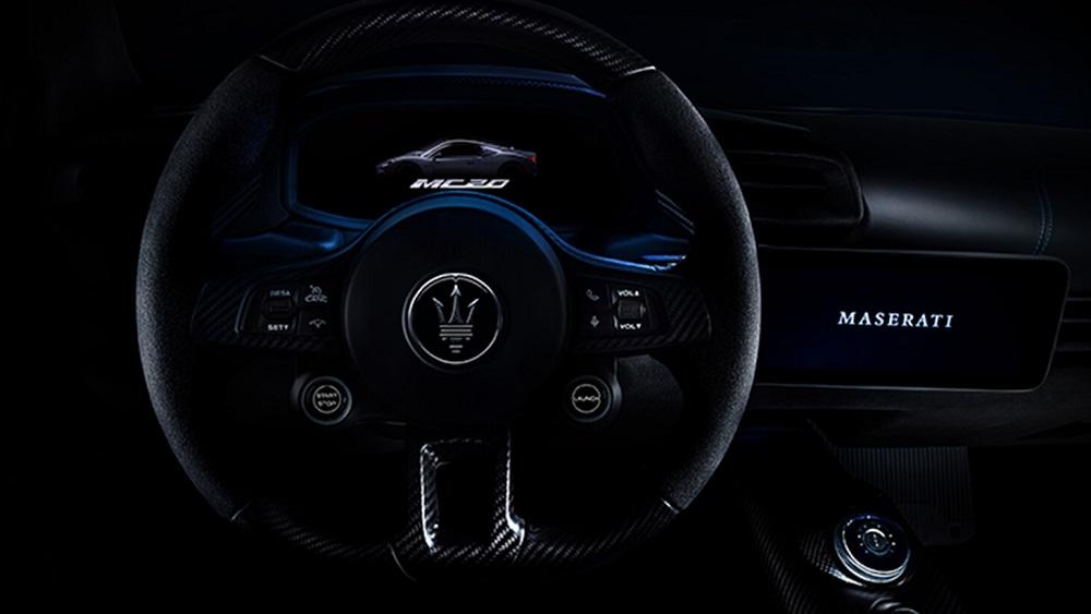 2021 Maserati MC20 steering wheel