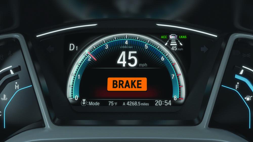 Collision Mitigation Braking System indicator