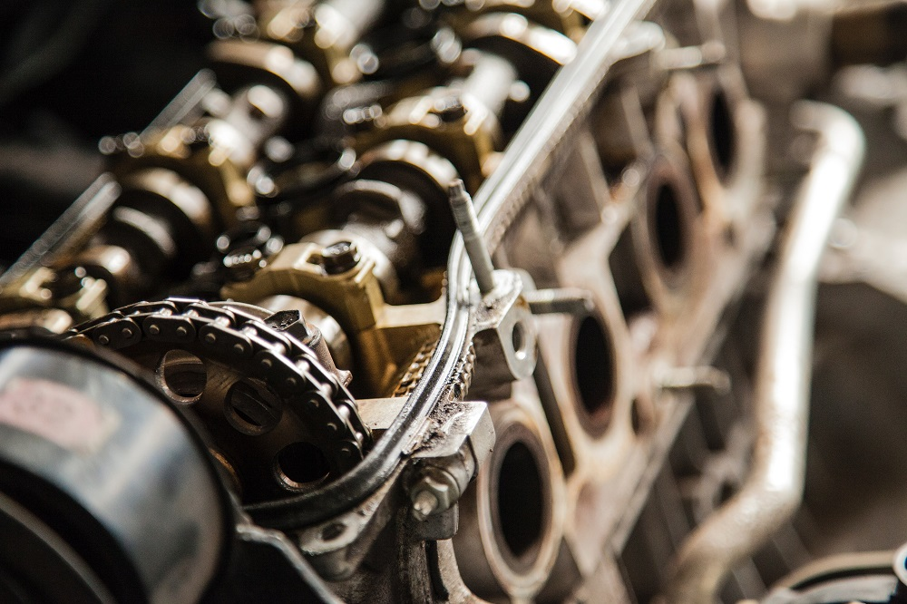 Engine block with depth of field