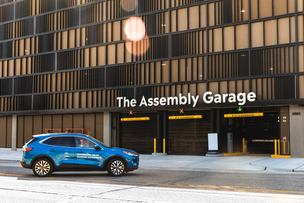 Ford automated valet parking in Detroit