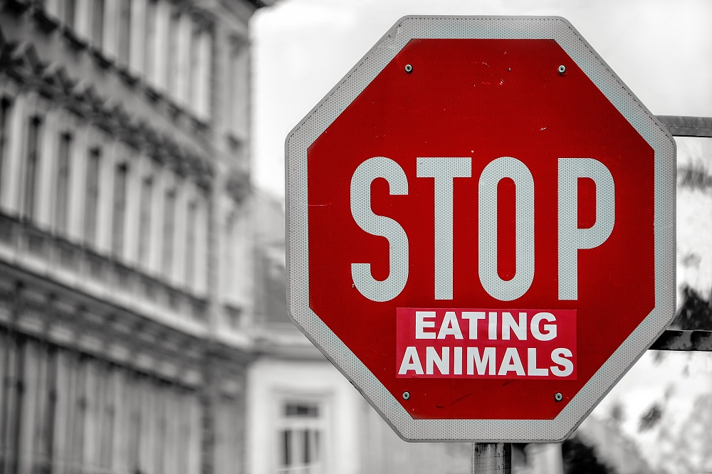STOP (eating animals) sign