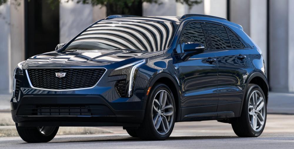 2021 Cadillac XT4 parked on a city street