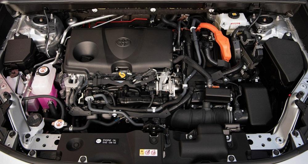 2021 Toyota RAV4 XSE engine bay