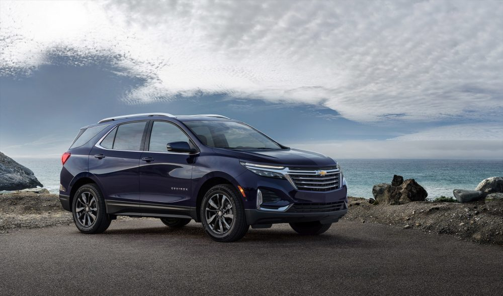 The 2021 Chevrolet Equinox Premier by the ocean