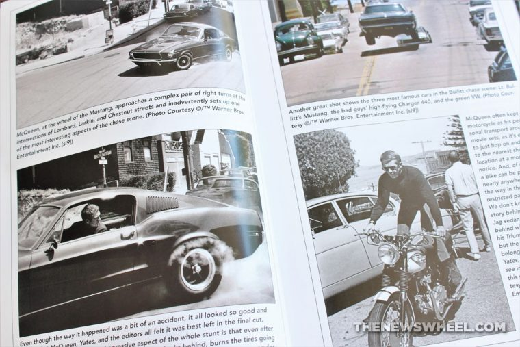Pages from the Steve McQueen Bullitt Book featuring the Ford Mustang