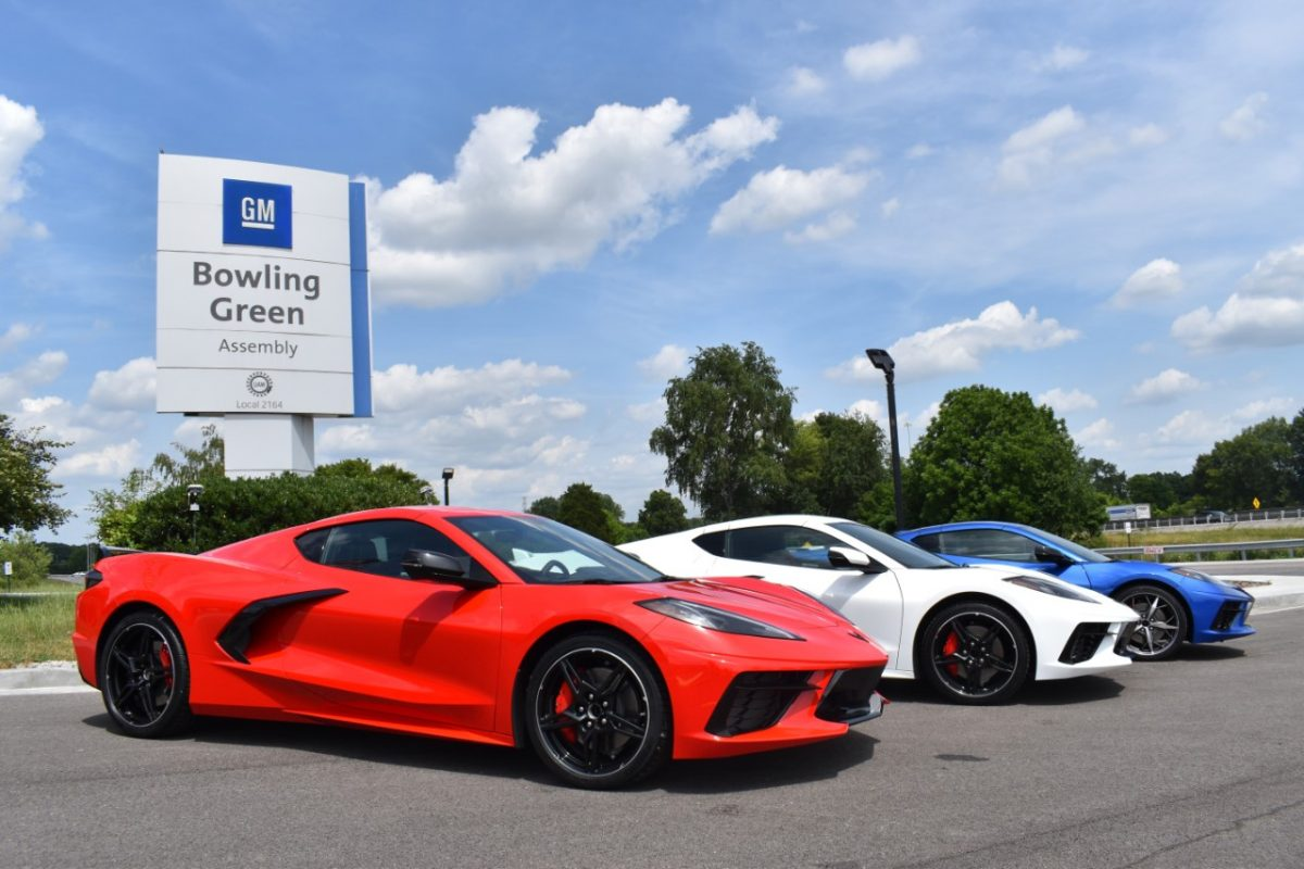 The Chevrolet Corvette C8 at the Bowling Green Assembly Plant. GM has most American-made vehicles