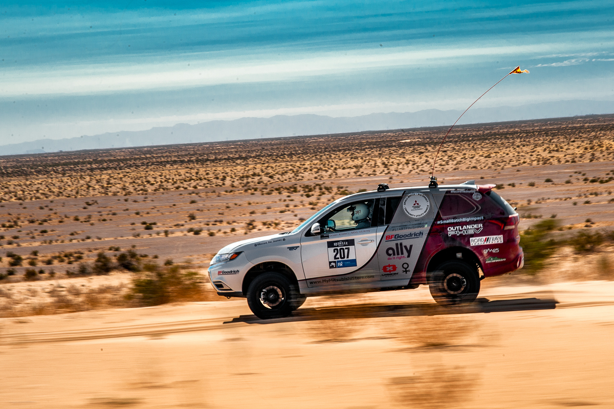 Record the Journey and the  Outlander PHEV in the 2020 Rebelle Rally