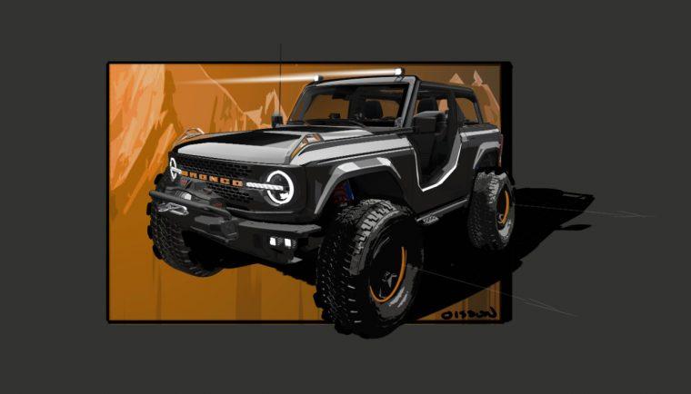 2021 Ford Bronco Badlands Sasquatch 2-Door Concept SEMA Nights