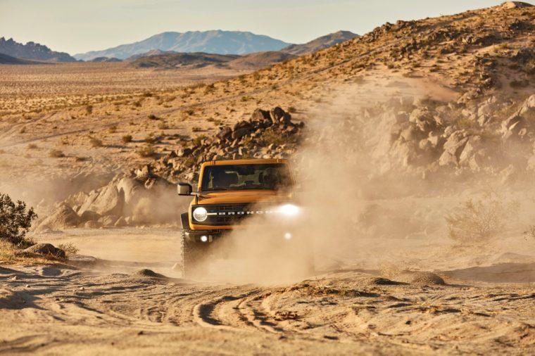 2021 Ford Bronco Black Diamond two-door in Cyber Orange