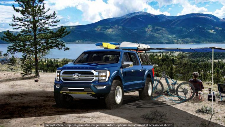 2021 Ford F-150 Limited Hybrid SuperCrew 4x4 by BDS Suspension SEMA Nights