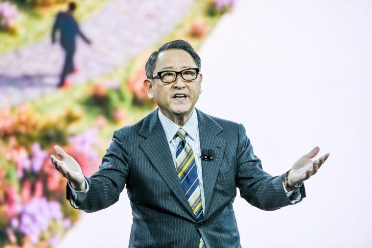 Akio Toyoda au CES 2020