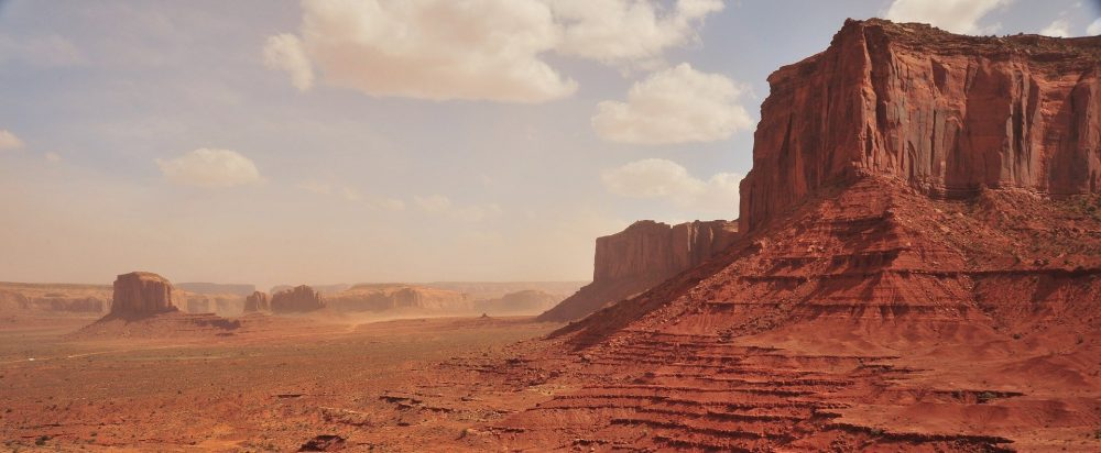 A desert landscape, much like the one depicted in Mad Max: Fury Road