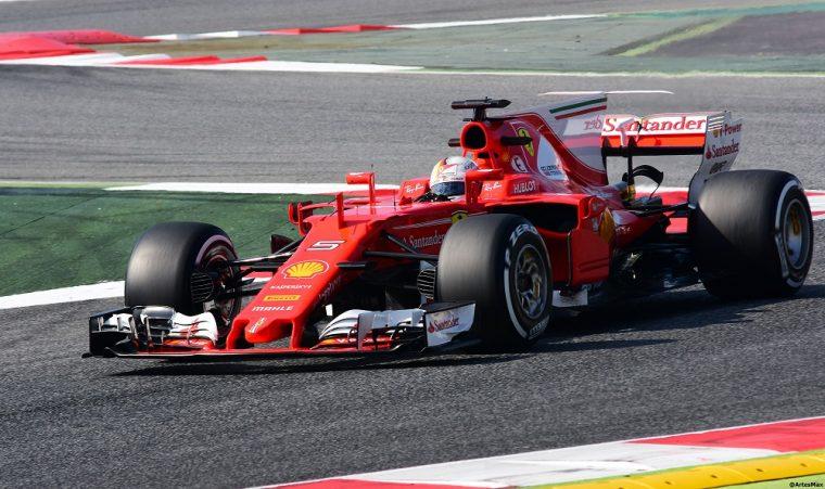 Sebastian Vettel in Ferrari SF70H
