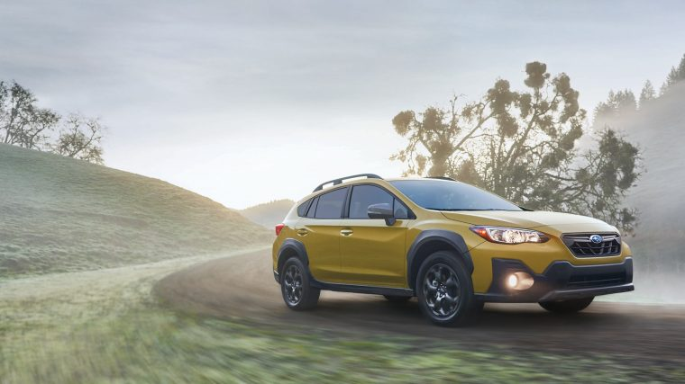 The Subaru Crosstrek, which contributed to record October sales