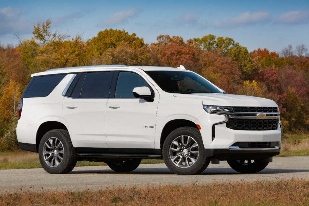 2021 Chevrolet Tahoe LS with the 3.0L Duramax Turbo-Diesel. Tahoe and Suburban are Best Buys