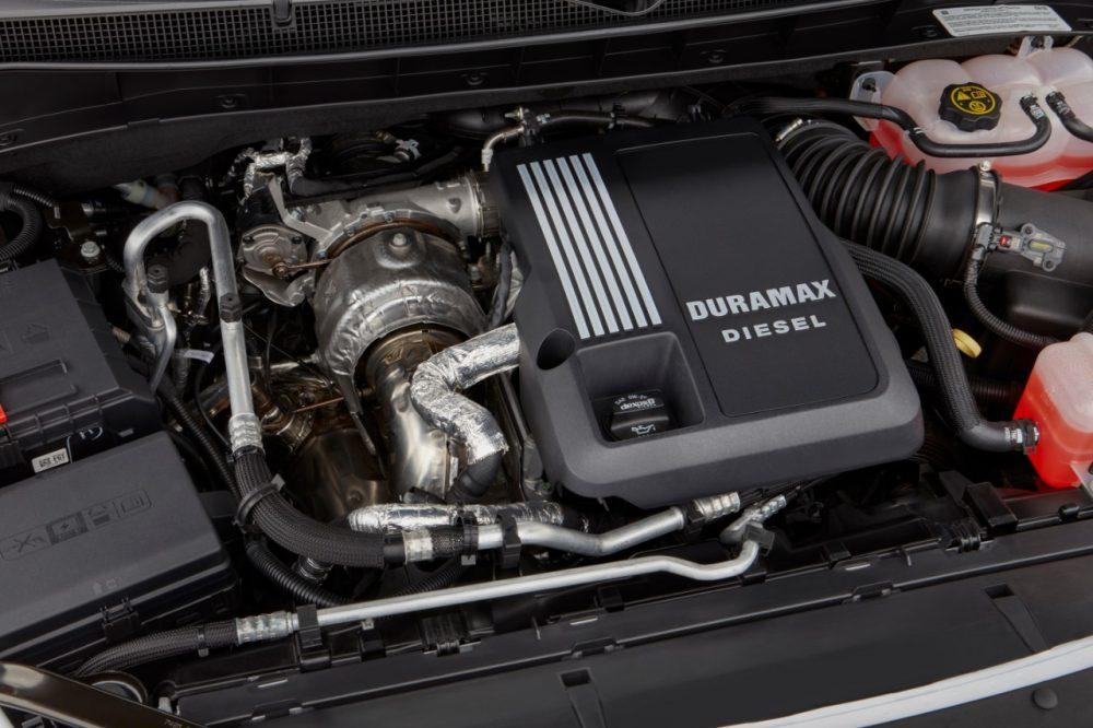 The Duramax Turbo-Diesel engine in the 2021 Chevrolet Tahoe