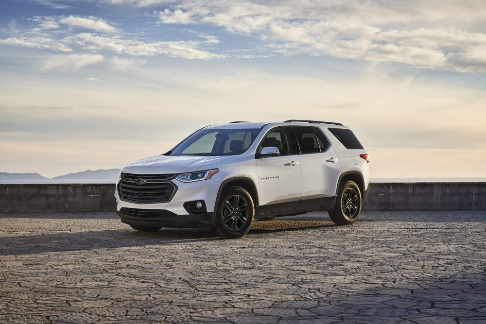 The 2021 Chevrolet Traverse Sport Edition in park