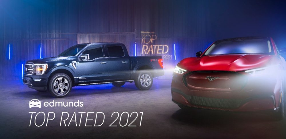2021 Ford F-150 and Mustang Mach-E Edmunds Top Rated | 2021 NACTOY finalists
