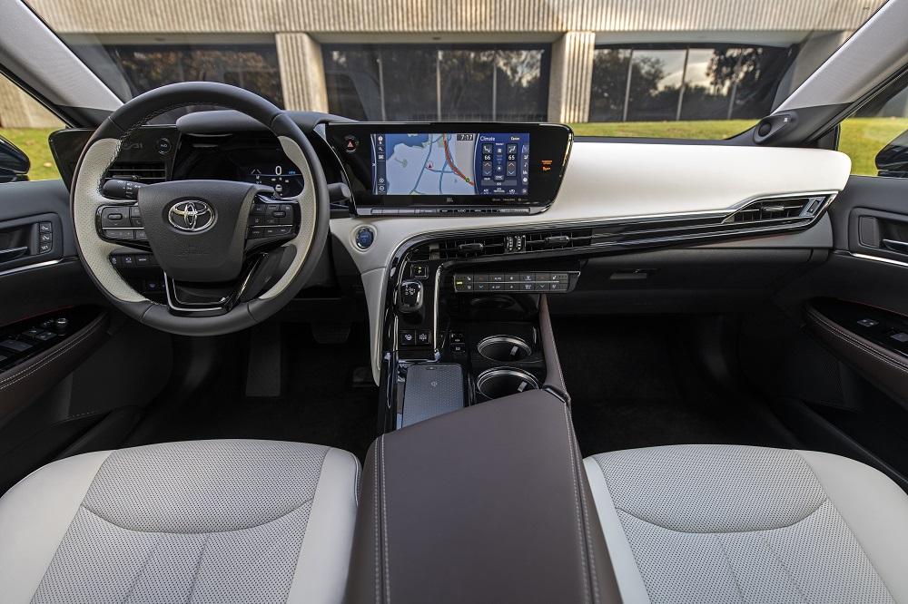 2021 Toyota Mirai Limited in Black (cockpit)