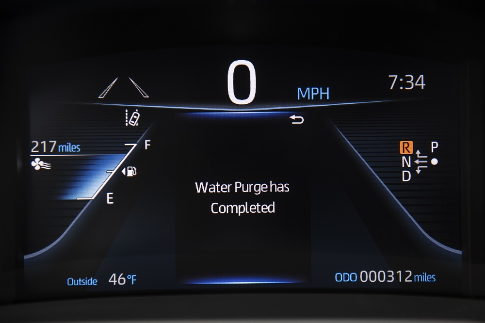 2021 Toyota Mirai Limited in Black (water purge message)