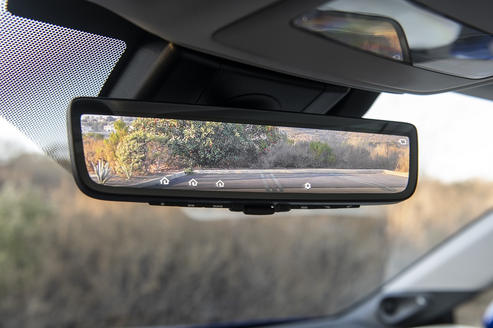 2021 Toyota Mirai Limited in Hydro Blue (digital rearview mirror)