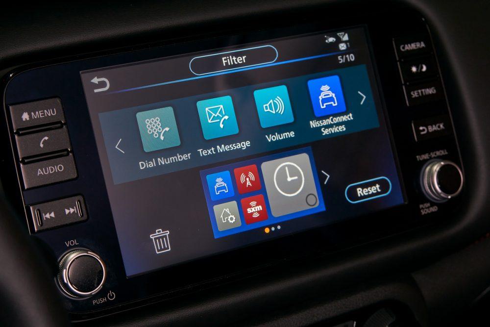 2021 Nissan Kicks interior touch screen infotainment system
