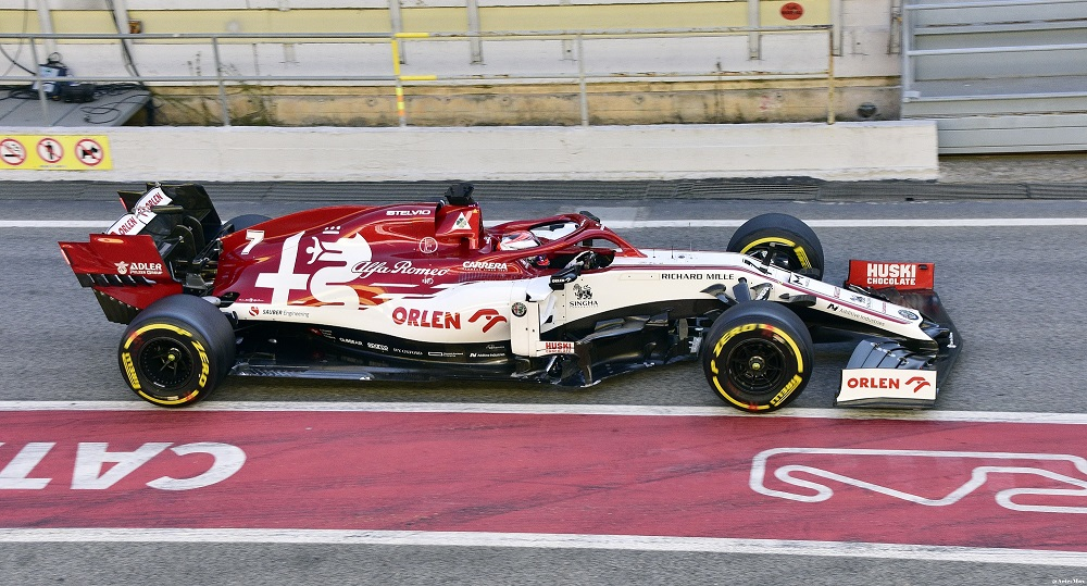 Alfa Romeo C39 at Barcelona pre-season testing