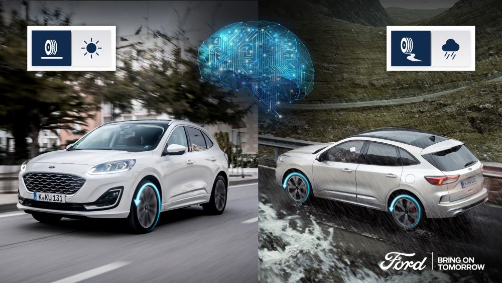 Ford Kuga Hybrid with Intelligent All-Wheel Drive with Artificial Intelligence