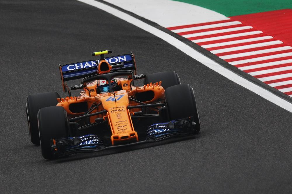 Lando Norris during 2018 Japanese GP FP1