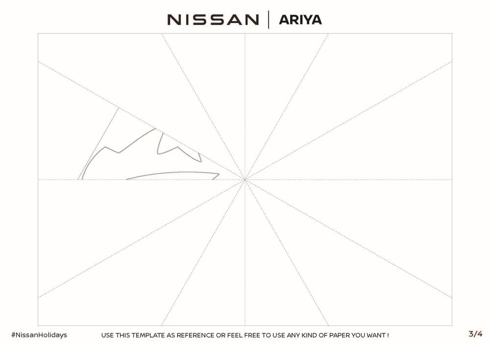 Nissan Ariya Snowflake Template