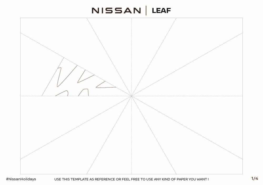 Nissan LEAF Snowflake Template