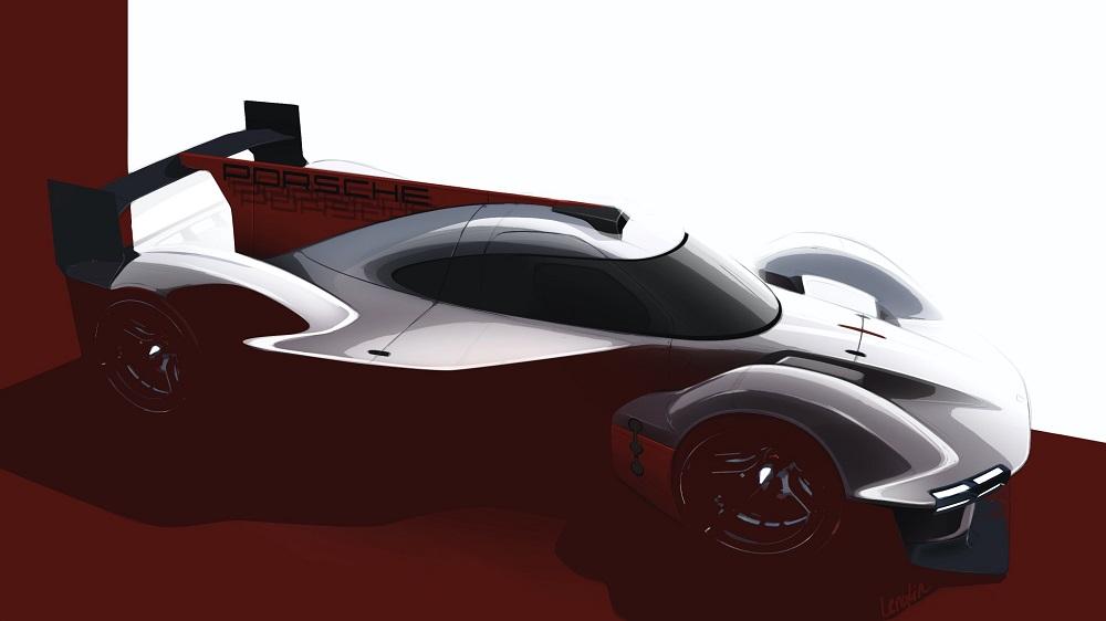 Porsche LMHd Prototype teaser - front