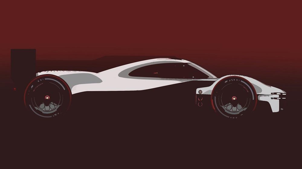 Porsche LMHd Prototype teaser - side