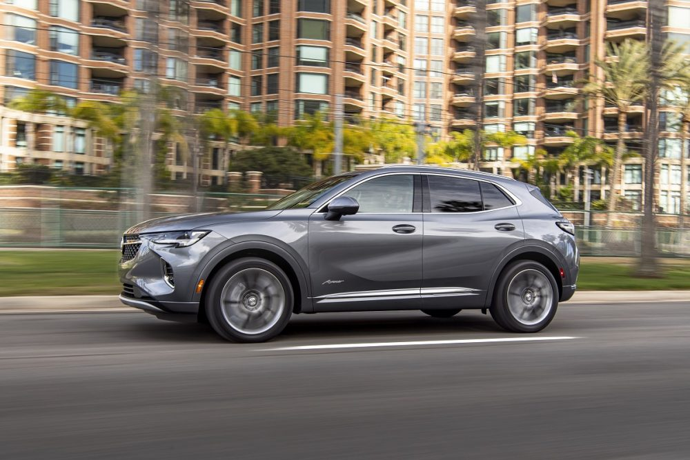 2021 Buick Envision driving down street