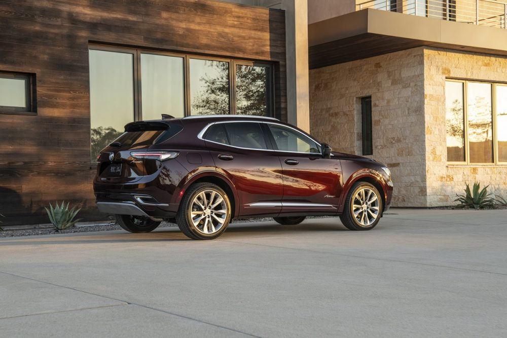 Side view of parked 2021 Buick Envision