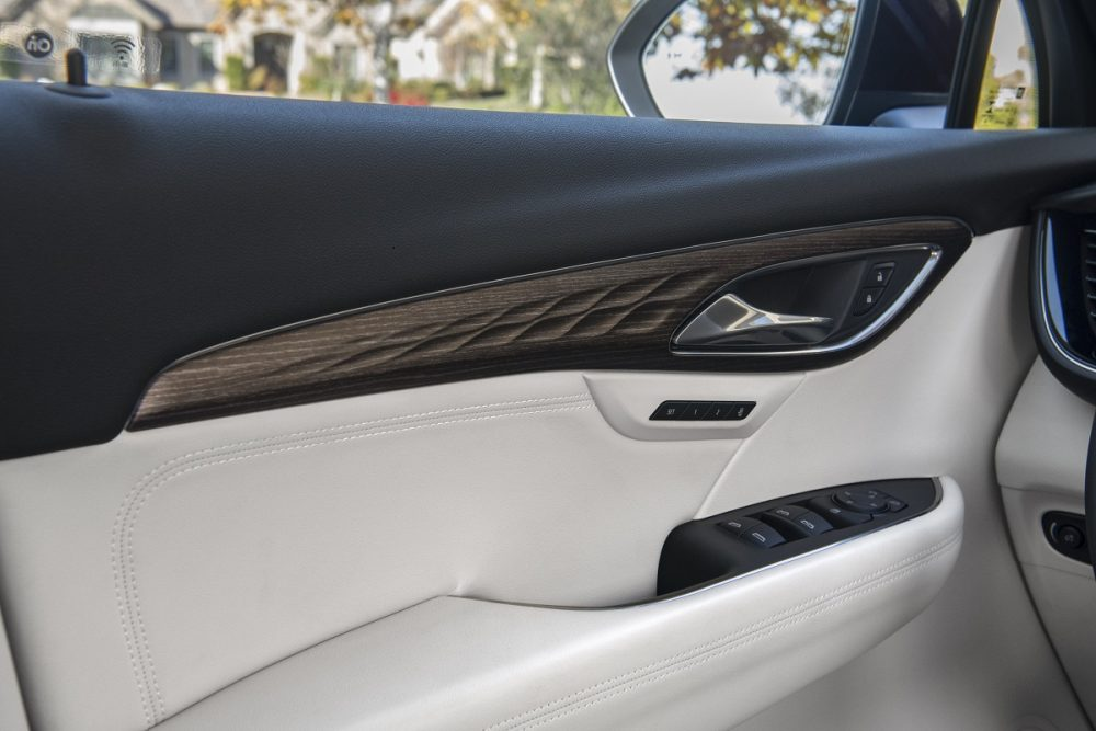 Close-up of 2021 Buick Envision door interior