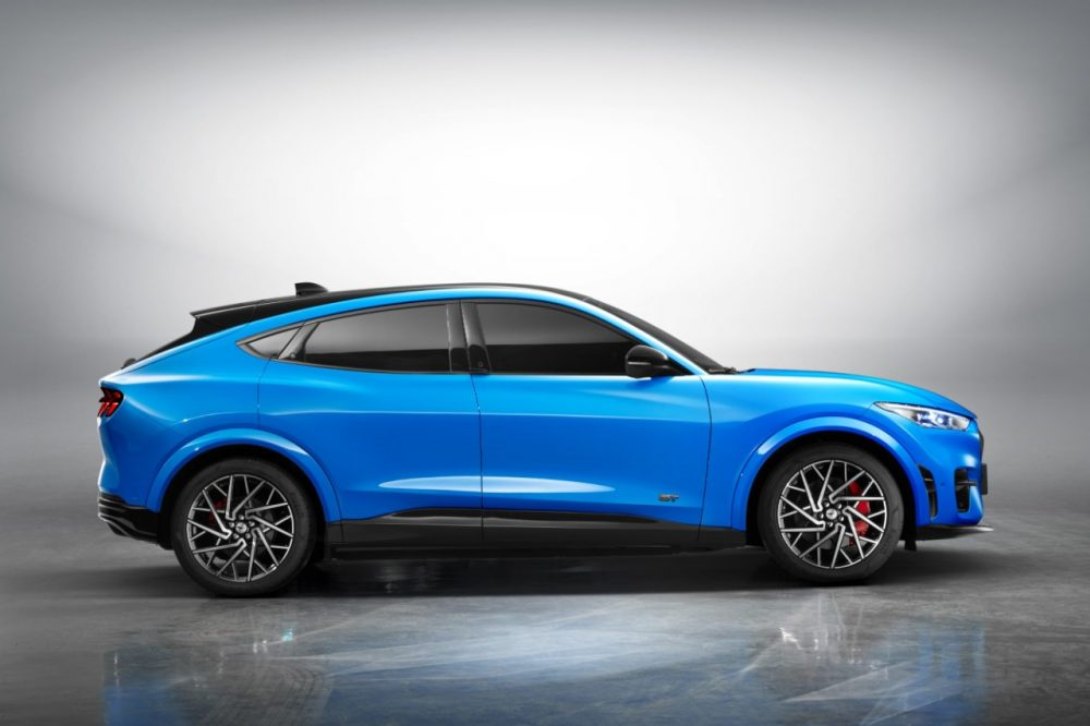 2021 Ford Mustang Mach-E in Grabber Blue Metallic