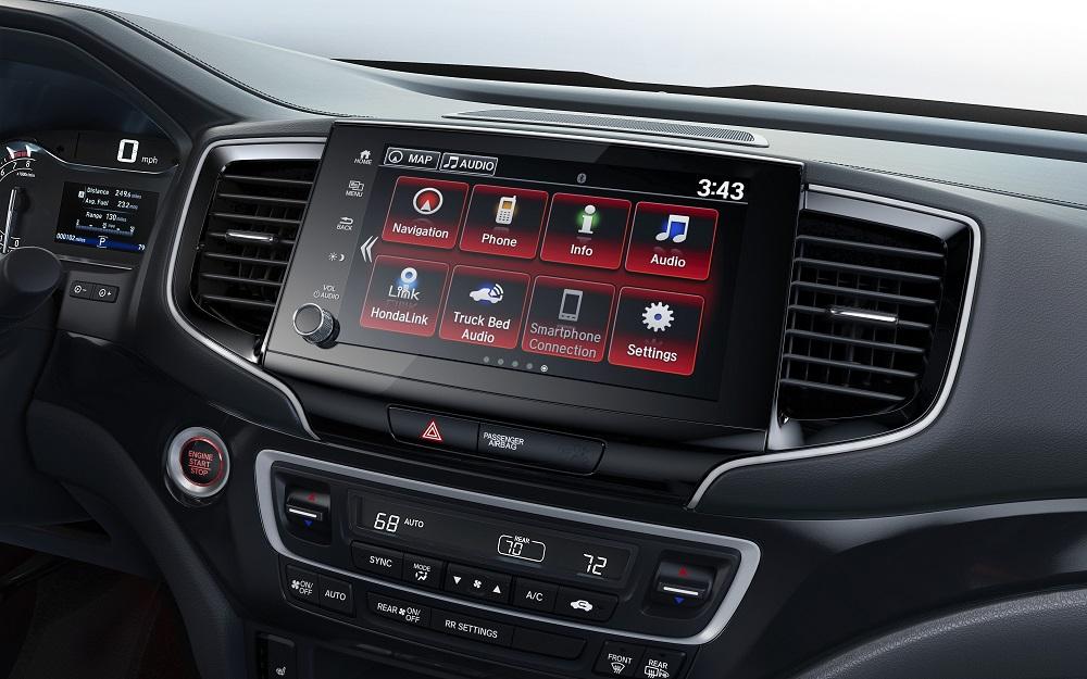 2021 Honda Ridgeline RTL-E infotainment graphics