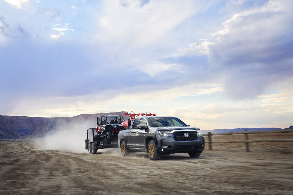 2021 Honda Ridgeline RTL-E with HPD Package (towing powersports equipment)