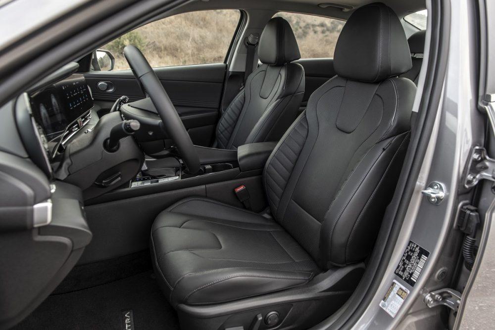 2021 Hyundai Elantra Hybrid front seats