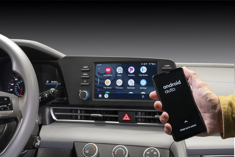 2021 Hyundai Elantra 8-inch touch screen and wireless Android Auto